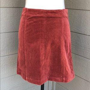 Wishlist Maroon Corduroy Skirt